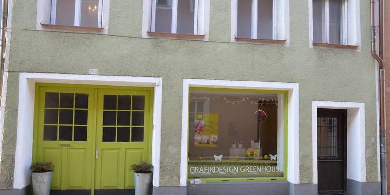 Grafikdesign Greenhouse - Grafik- und Corporate Design in der Mautnerstraße 245.